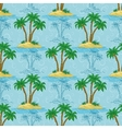 Seamless pattern palm trees vector image