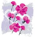 valentine flowers vector image vector image
