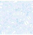 animal footprints blue and white seamless pattern vector image