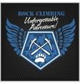 Rock climbing and mountain climbing vector image