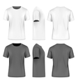 Men short sleeve t-shirt vector image