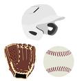 Baseball set vector image