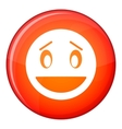 Confused emoticon flat style vector image