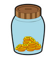 glass jar with money vector image