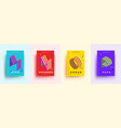 modern typographic colorful covers isometric vector image