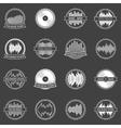 Music emblems or badges set vector image