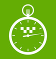speedometer in taxi icon green vector image