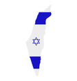 Map of Israel with flag vector image