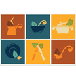 organic cooking in retro style vector image vector image