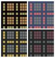 tartan fabric seamless pattern set vector image