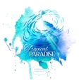 Watercolor Blue Texture vector image vector image