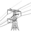 Silhouette of high voltage power lines vector image vector image