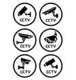 Security camera pictograms set vector image vector image