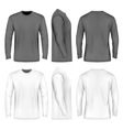 Men long sleeve t-shirt vector image
