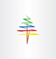 colorful tree clipart icon vector image