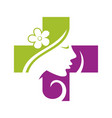 beauty woman medical clinic 2 vector image