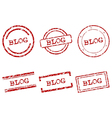 Blog stamps vector image