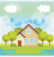 colorful houses design vector image