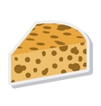 delicious cheese isolated icon vector image