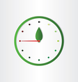 eco clock concept time for ecology abstract design vector image