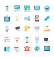 Electronics Colored Icons 3 vector image