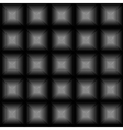 Geometric black background with glowing squares vector image