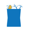 grocery bag design concept vector image