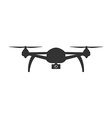 Icon of Drone Remote controlled flying quadcopter vector image