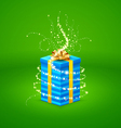 magic light comes from a beautiful gift box closed vector image