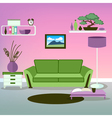 Modern Interior Living Room Design vector image
