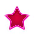 pink cartoon star vector image