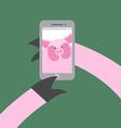 Selfie makes a pig Farm animal photographs vector image