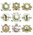 Set of vintage golf emblems vector image