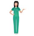 smiling nurse presenting vector image