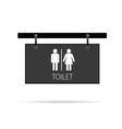 toilet signboard vector image