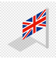 uk flag isometric icon vector image