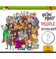 counting people activity game vector image vector image