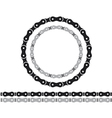 bicycle chain silhouettes vector image vector image