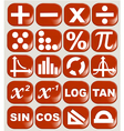 Math related symbols vector image