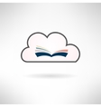 Book icon made in modern flat design Cloud library vector image