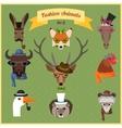 Fashion Hipster Animals set 6 vector image