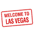 welcome to Las Vegas red grunge square stamp vector image