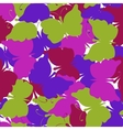 Butterfly colored seamless pattern vector image