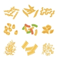Classic Italian Pasta Types Collection vector image vector image