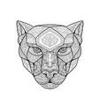 black panther zentagle vector image