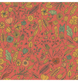 Hand drawn floral seamless pattern with flowers vector image