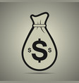 money bag icon in flat style vector image