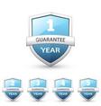 set of guarantee labels vector image
