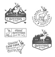 Set of vintage outdoors labels and design elements vector image
