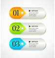 Shine horizontal colorful options banners vector image